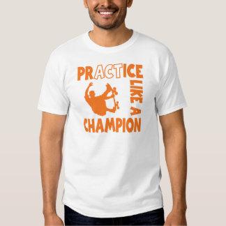 Practice Skateboard, orange Tshirts