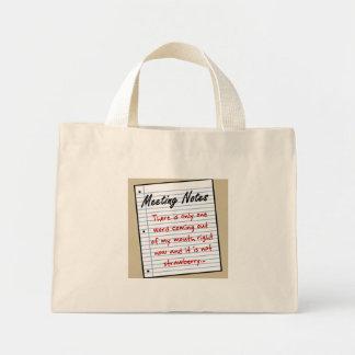 Practicing Business Etiquette Mini Tote Bag