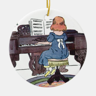 Practicing the Piano Christmas Ornament