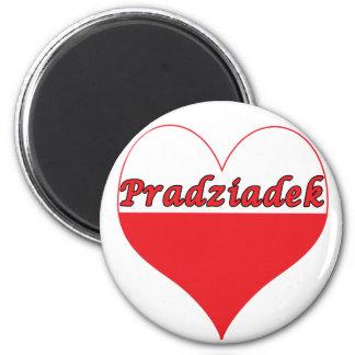 Pradziadek Polish Heart 6 Cm Round Magnet