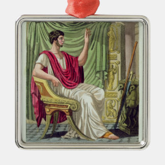Praetor, No. 38 from 'Antique Rome', engraved by L Silver-Colored Square Decoration