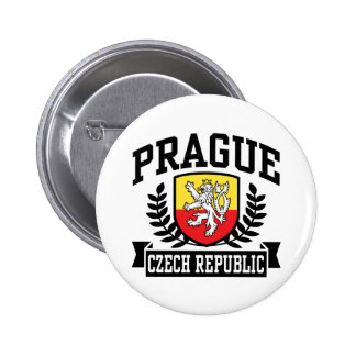 Prague 6 Cm Round Badge