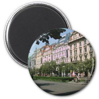 Prague 6 Cm Round Magnet