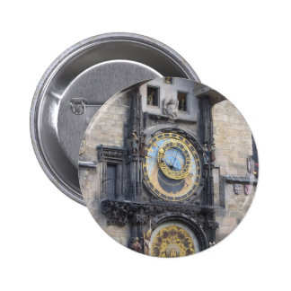 Prague Astronomical Clock In The Old Town Square Button