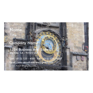 Prague Astronomical Clock In The Old Town Square Business Card
