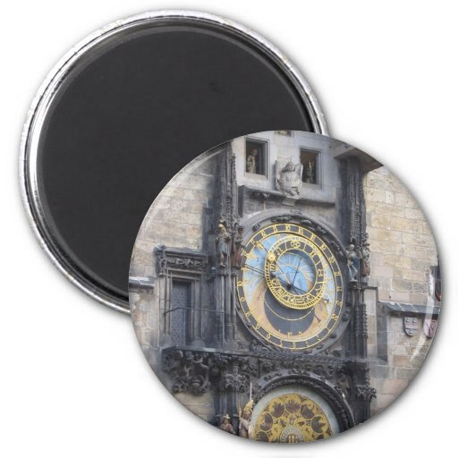 Prague Astronomical Clock In The Old Town Square Refrigerator Magnet