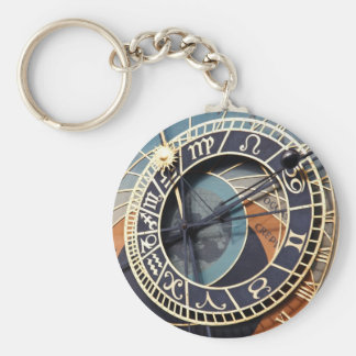prague astronomical clock keychain