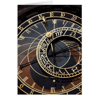 prague astronomical clock note card