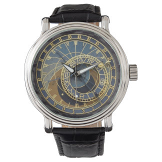 Prague astronomical clock wristwatch