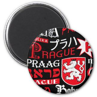 Prague Bohemia 6 Cm Round Magnet