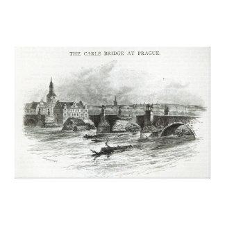 Prague Bridge, from 'Leisure Hour', 1891 Canvas Print