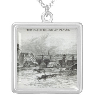 Prague Bridge, from 'Leisure Hour', 1891 Silver Plated Necklace