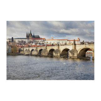 Prague Castle and Charles Bridge souvenir photo Acrylic Wall Art