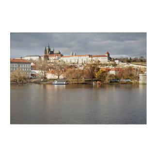 Prague Castle and River view souvenir photo Acrylic Wall Art