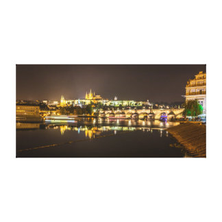 Prague - Castle & Charles Bridge Canvas Print