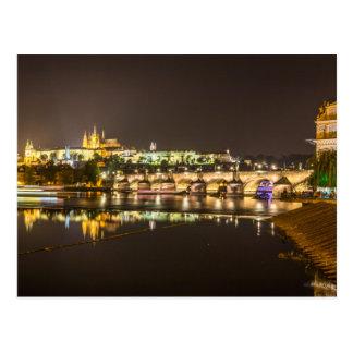 Prague - Castle & Charles Bridge Postcard