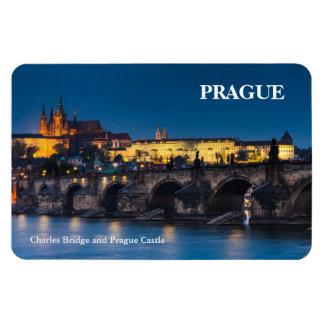Prague Castle Vinyl Magnets