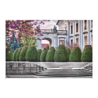 Prague Castle Garden Na Baste in the Morning Canvas Print