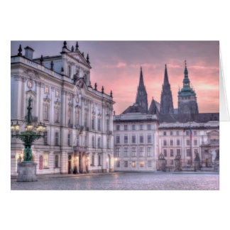 Prague Castle in the Morning Card