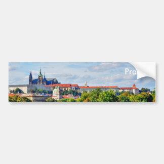 Prague castle panorama bumper sticker
