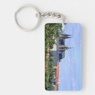 Prague castle panorama key ring