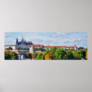 Prague castle panorama poster