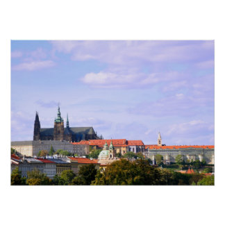 Prague castle panorama poster