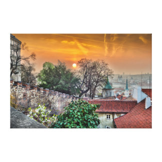 Prague Castle Stairs Morning Canvas Canvas Print