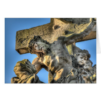 Prague - Charles Bridge Pieta Statue Card