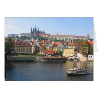 Prague Charles Bridge View Card