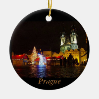 Prague Christmas Night Travel Ornament
