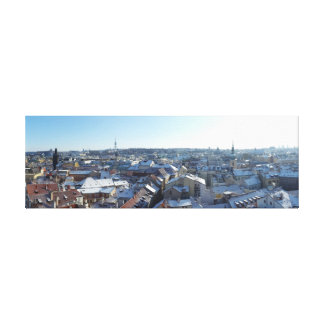 Prague City Skyline Canvas Print