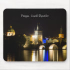 Prague Cityscape at Night Mouse Mat