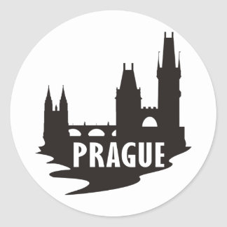 Prague Classic Round Sticker