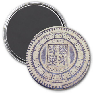 Prague Coat of Arms Sewer Cover 7.5 Cm Round Magnet