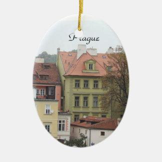 Prague Colorful Buildings Czech Ornament