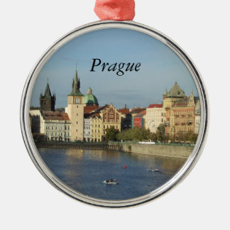 Prague Czech Gift Travel Round Ornament Praha