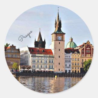 Prague, Czech Republic Classic Round Sticker