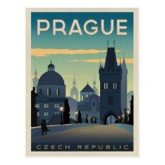 Prague, Czech Republic Postcard at Zazzle