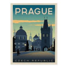 Prague, Czech Republic Postcard at Zazzle
