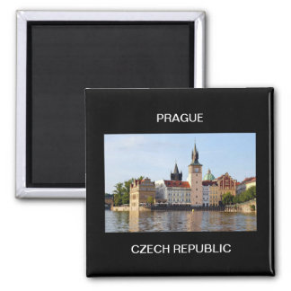 Prague, Czech Republic Square Magnet