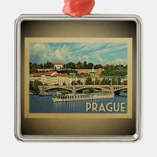 Prague Czech Republic Vintage Travel Ornament