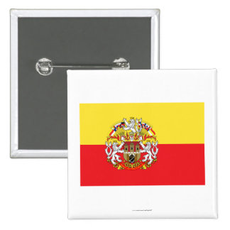 Prague Flag 15 Cm Square Badge