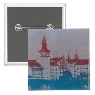 Prague Golden city 15 Cm Square Badge
