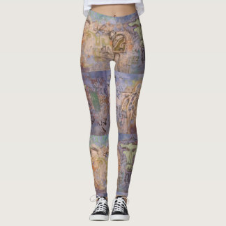 Prague Graffiti Skinny Tights