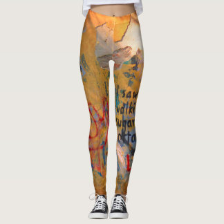 Prague Graffiti stretch tight leggings skinny pant
