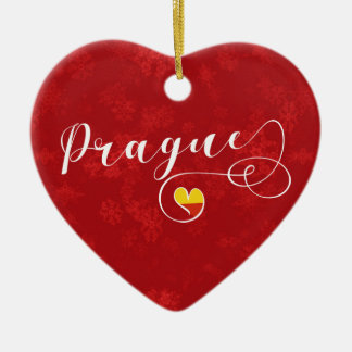 Prague Heart, Christmas Tree Ornament, Czech Christmas Ornament