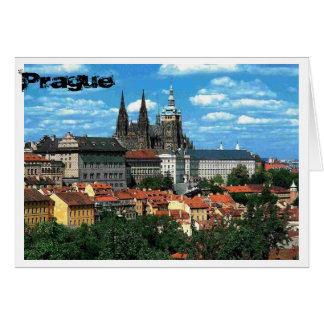 Prague In Blue Card