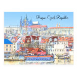 Prague in Pastel Post Card