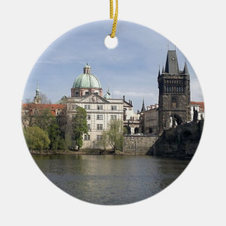 Prague in the spring christmas ornament